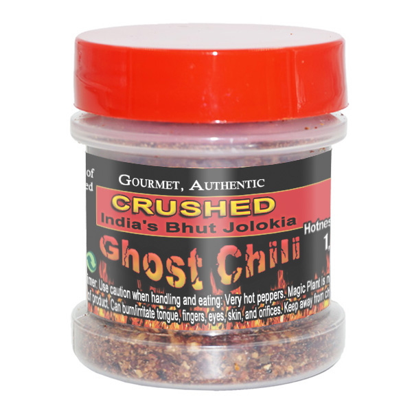 Smoked ghost chili flakes crushed 1 2oz plastic jar with for Chili flakes