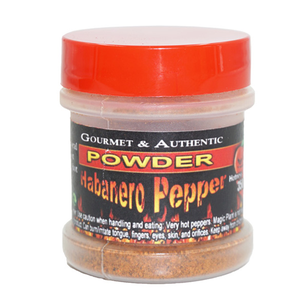 Habanero Chili Powder - 1/2oz in a plastic Jar with sifter ...